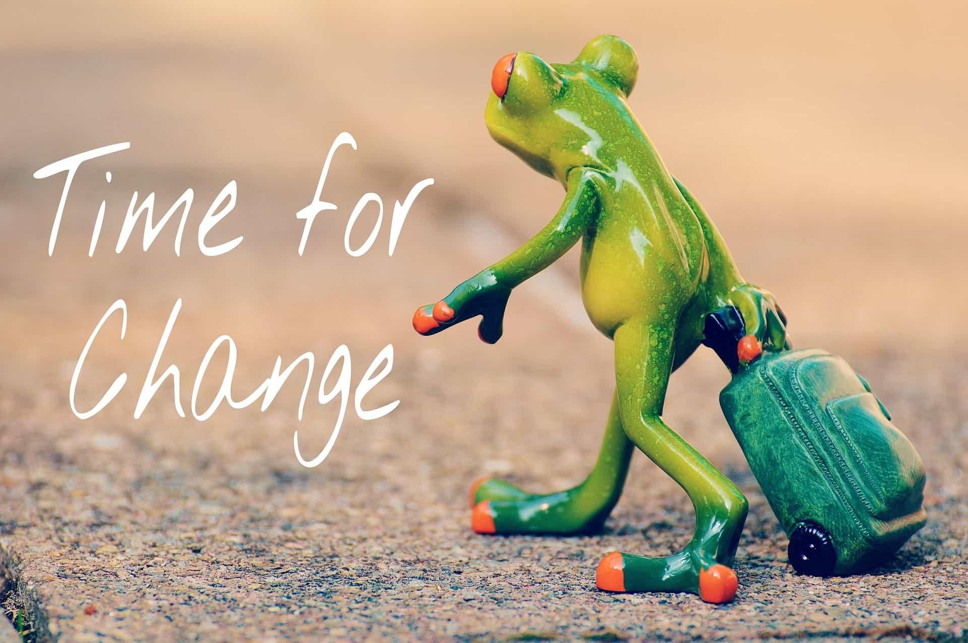 grenoouille en route vers le changement