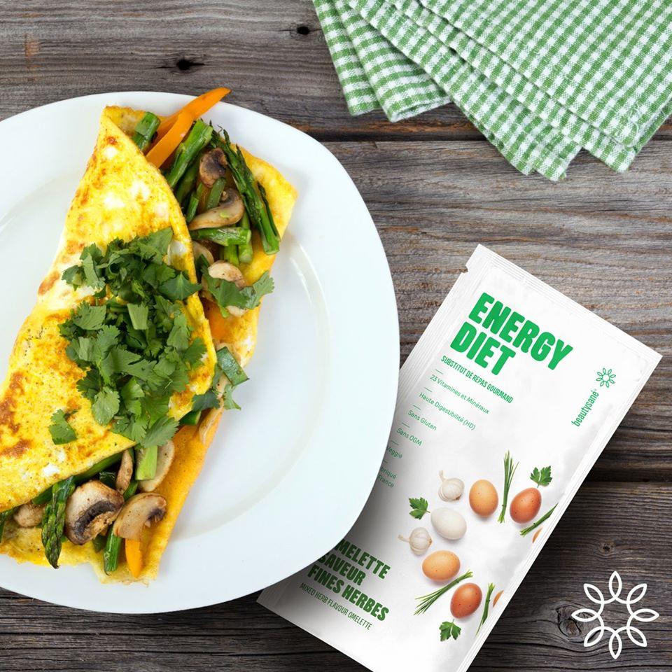 omelette avec le programme energy diet