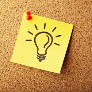 image d'ampoule - idée : pourquoi le blogging ?