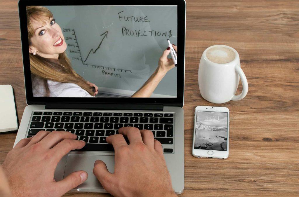 travaillez chez soi avec la vidéoconférence