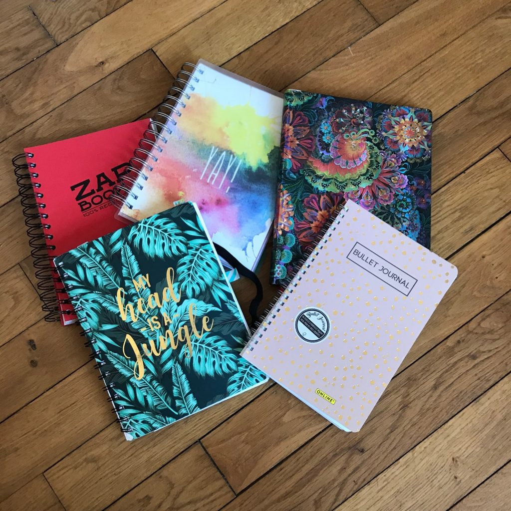 carnets pour écrire un journal