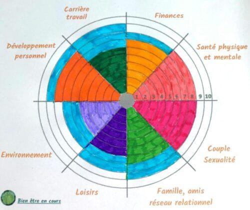 roue de la vie complétée