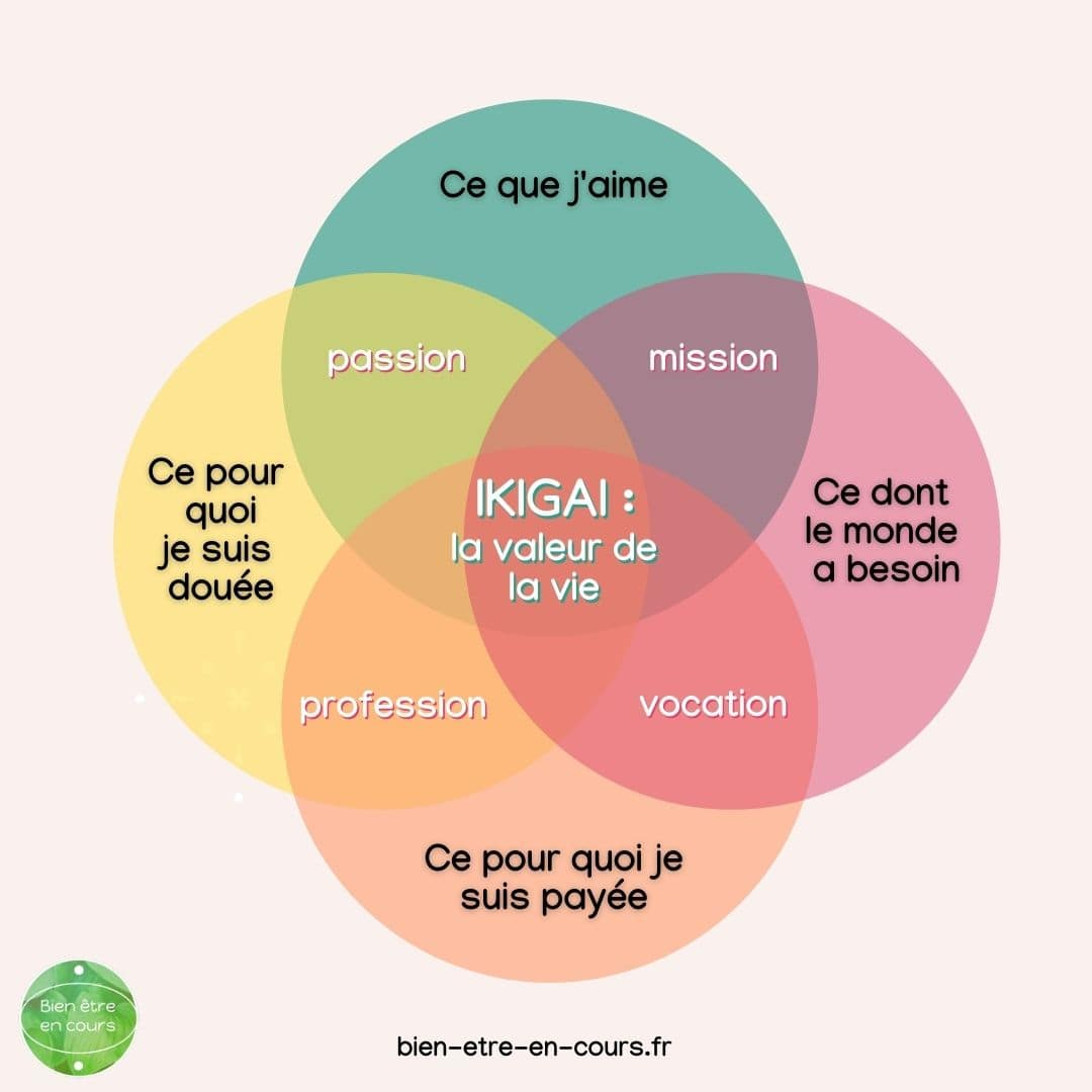 diagramme de l'ikigai